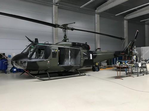 (73+77), Bell/Dornier UH-1D Iroquois, TSLw1, German Air Force (8497), Kaufbeuren 10th October 2018