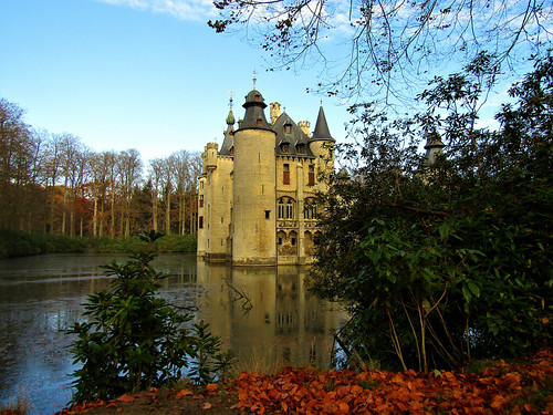 Water Castle De Borrekens in Belgium