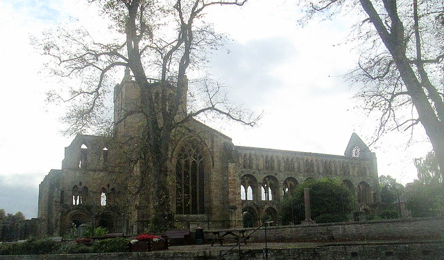 Jedburgh Abbey, from Northeast