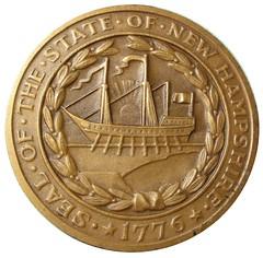 St-Gaudens New Hampshire medal reverse