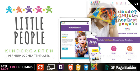 Little People - Kindergarten Joomla Template for PreScool and infants, nurseries and play school