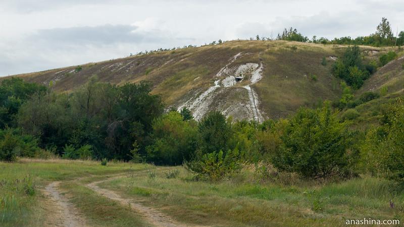 Дорога к Песковской пещере, Воронежская область
