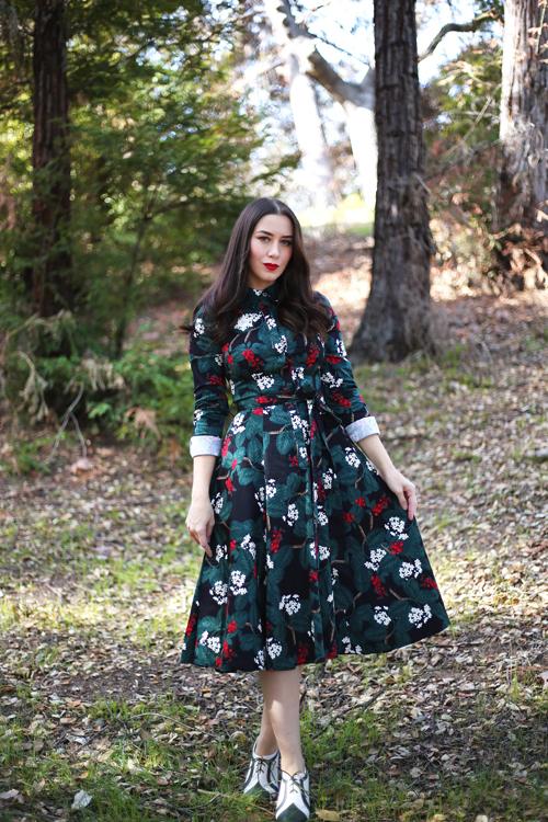 Collectif Mara Wild Berries Swing Dress
