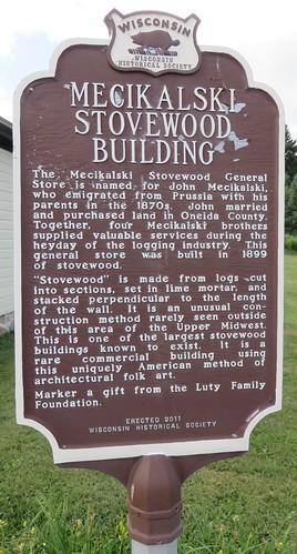 Mecikalski Stovewood Building Marker (Jennings, Wisconsin)