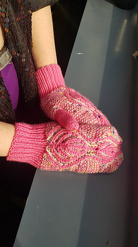 Sandi's Bettua Mitts - beautiful brioche