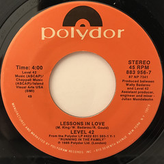 LEVEL 42:LESSONS IN LOVE(LABEL SIDE-A)