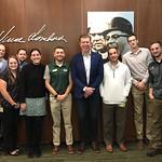 Green Bay Packers Staff & Matt-Green Bay, Wisconsin