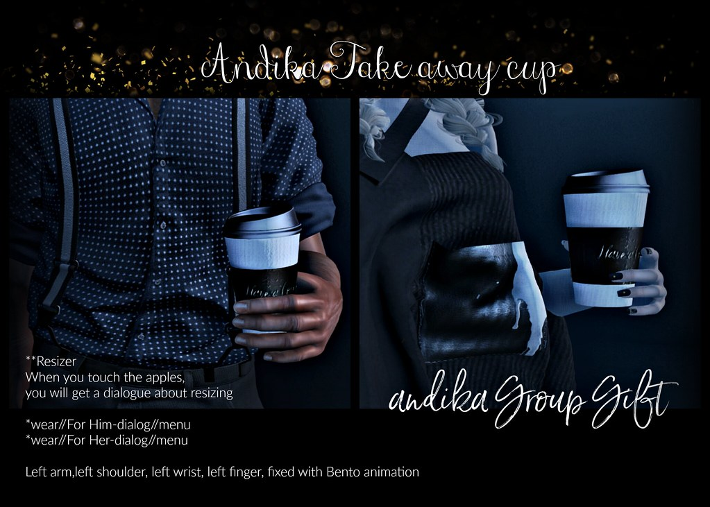 andika[ Take away cup]] Group Gift-AD - TeleportHub.com Live!
