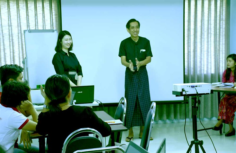 Conducting workshop on Strengthening the Capacity of Civil Society in Myanmar