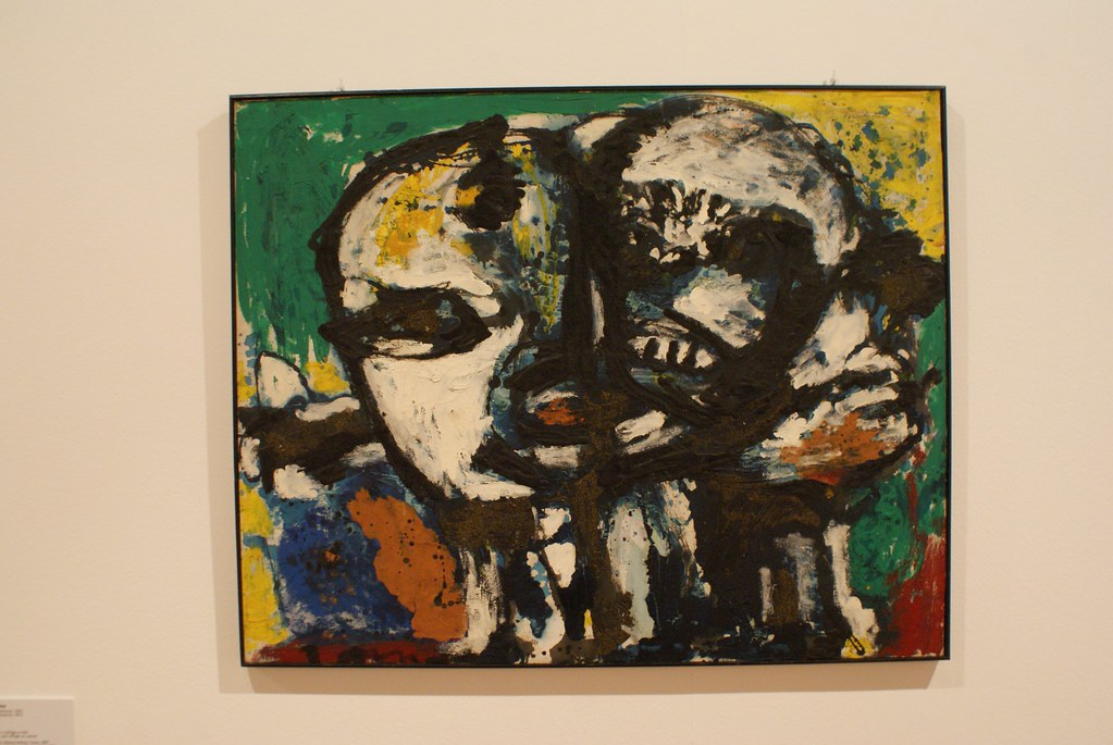 """""""Heads"""" (1956) d'Asger Jorn - GAM, musée d'art moderne de Turin."""