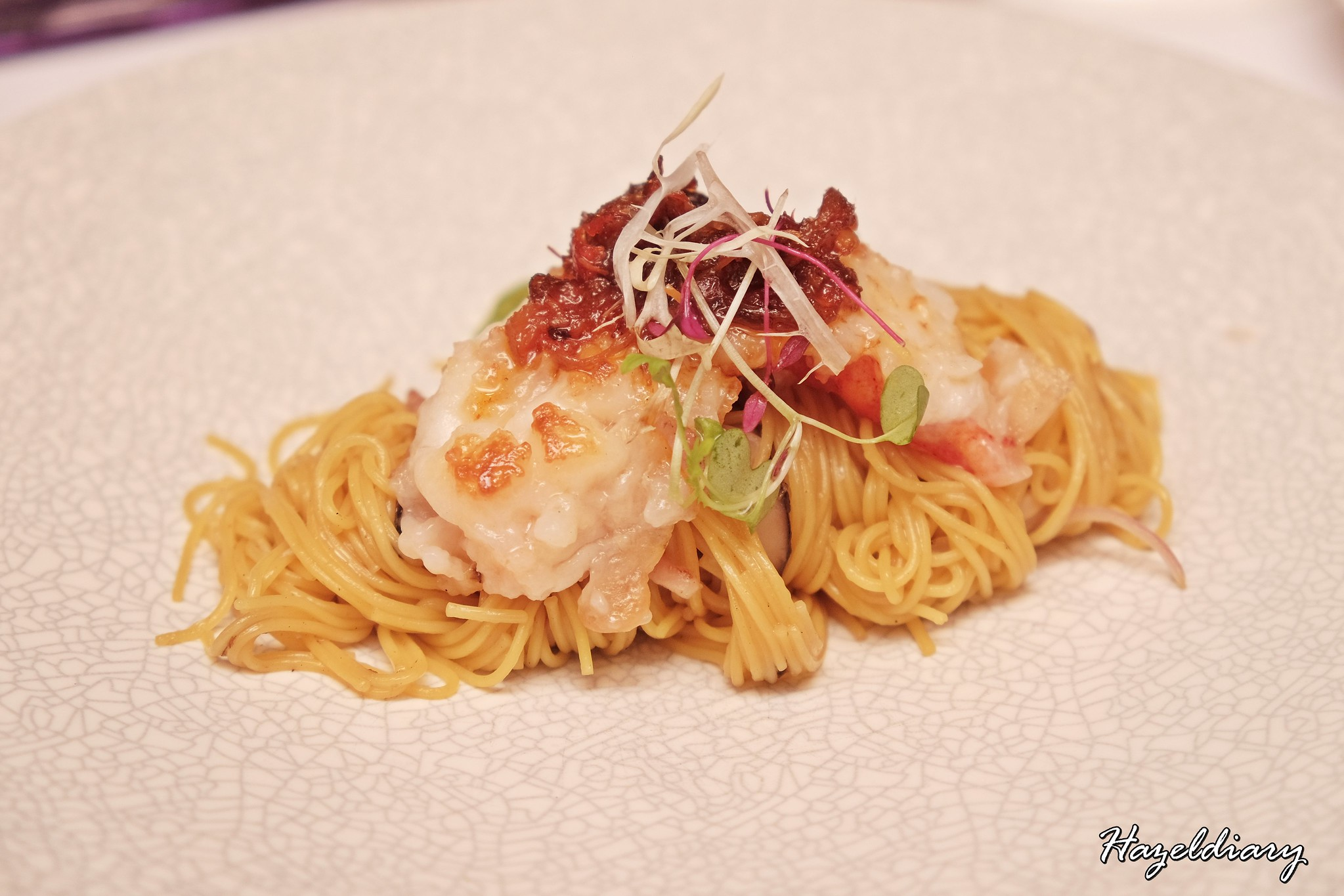 Crystal Jade Restaurant-Yuzu Noodles with Pan-seared lobster
