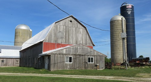 Wisconsin Dairy Barn and Silos (Kewaunee County, Wisconsin)