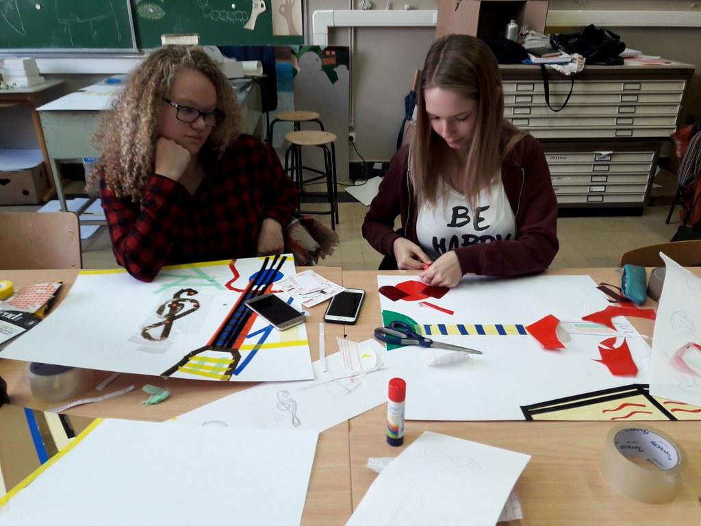 sessie 2 ateliersDKO schilderen met tape (13)