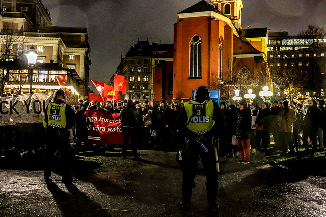 Far right demo in Stockholm
