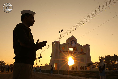 A view of Samagam Gate at the time of sunset