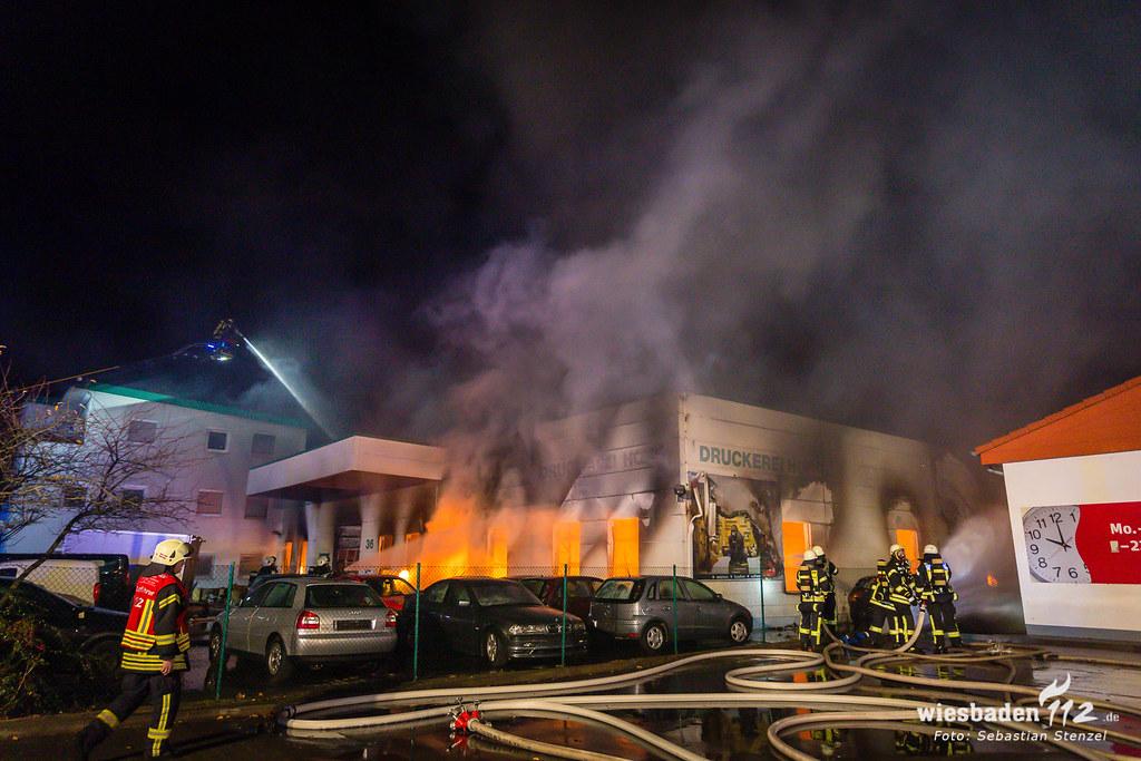 Lagerhallenbrand Flörsheim-Weilbach 09.12.18
