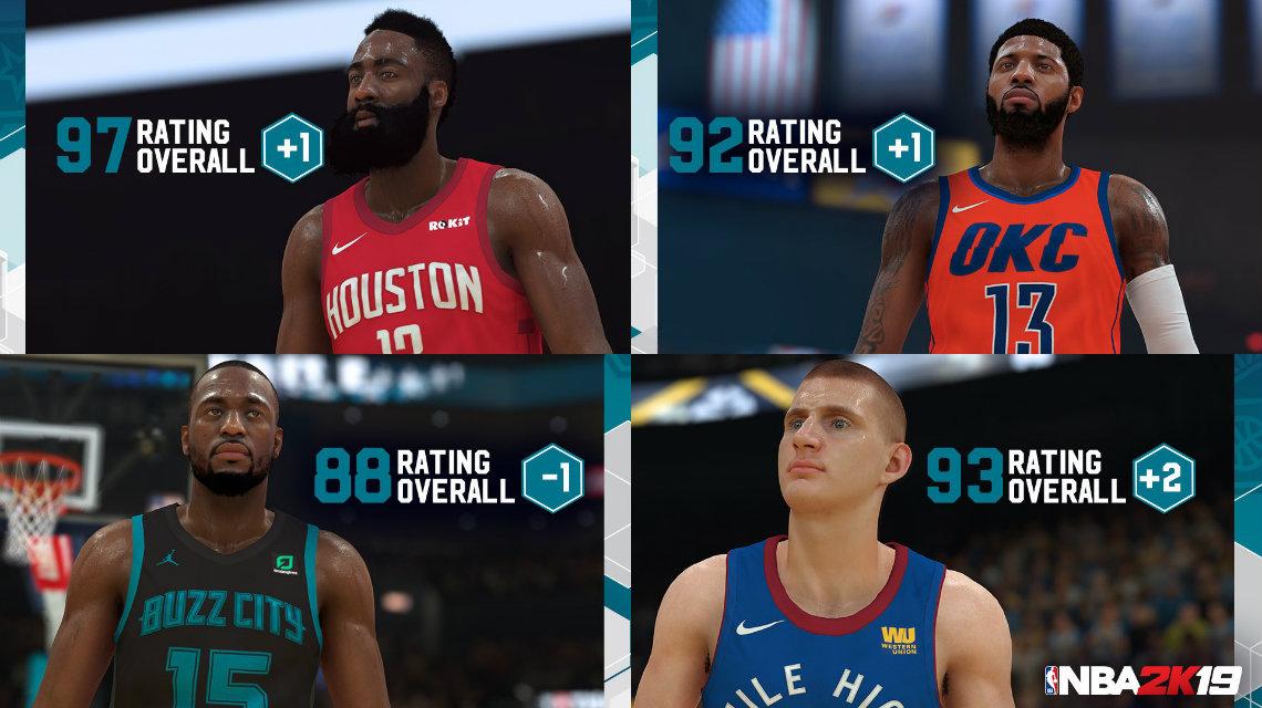 NBA 2K19 Roster Güncellemesi (01 Şubat 2019)
