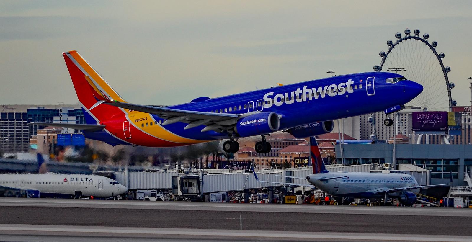 N8676A Southwest Airlines Boeing, Nikon D7000, AF-S DX VR Nikkor 55-300mm f/4.5-5.6G ED