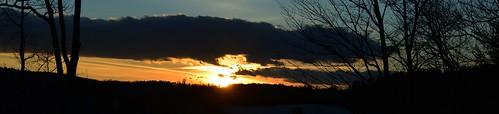 sunset sunsetsky aftersunset februarysunset maine