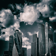 #MoscowCity #Clouds #Sky #Skyscrapers