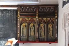 Former Wattisham rood screen: St Philomena, St Agnes, St Helen, St Barbara (1890s)