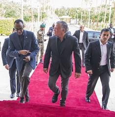 HM King Abdullah II of Jordan welcomes President Kagame to Aqaba,Jordan for the Aqaba Process meeting on East Africa |Aqaba, 9 December 2018