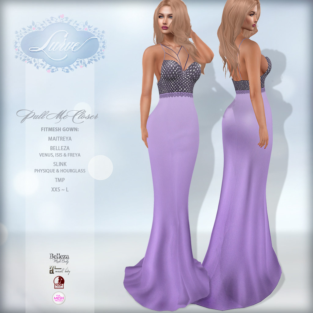 *Lurve* Sweetly Loved Gown in Lilac - TeleportHub.com Live!