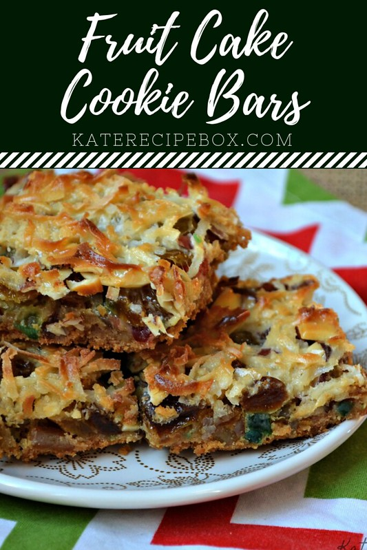 Fruit Cake Cookie Bars