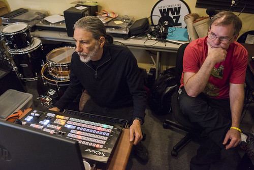 Charlie Steiner and Mike Thompson at WWOZ's 38th birthday - 12.4.18. Photo by Ryan Hodgson-Rigsbee rhrphoto.com