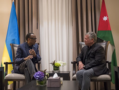 President Kagame meets with HM King Abdullah II of Jordan on the sidelines of the Aqaba meeting on East Africa |Aqaba, 9 December 2018
