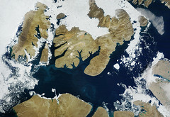 NASA image acquired August 17, 2010, the Northwest Passage almost free of ice. Original from NASA. Digitally enhanced by rawpixel.