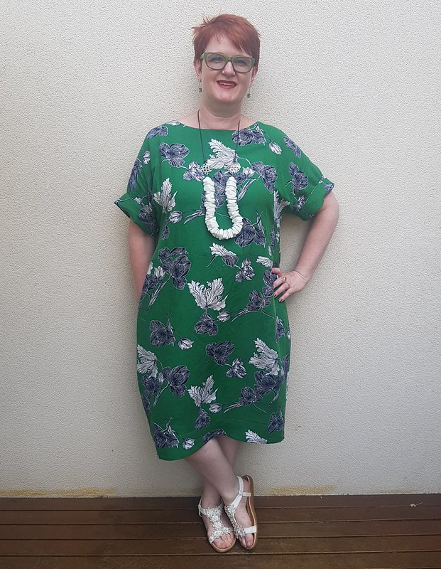 Style Arc Eme dress in linen blend from Darn Cheap Fabrics