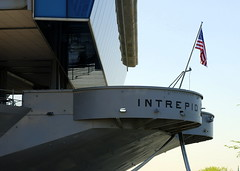 USS Intrepid fantail, Intrepid Sea, Air and Space Museum, New York.