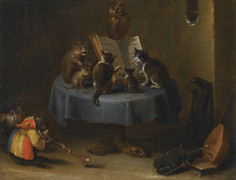 David Teniers II - The Cat Concert