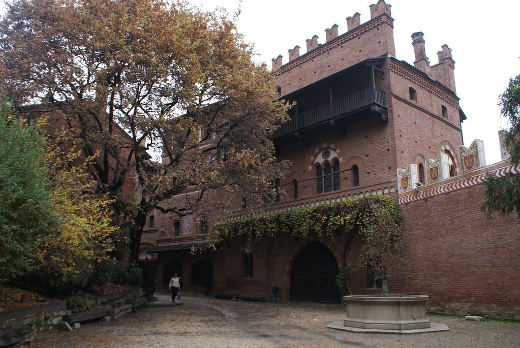 Reconstitution médiéval au Borgo Medievale de Turin.