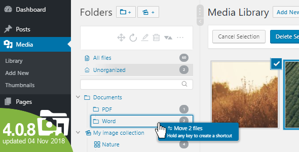 WordPress Real Media Library v4.0.8 – Media Categories / Folders