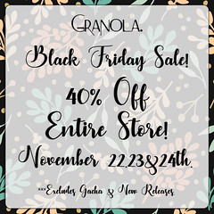 Granola. Black Friday Sale!