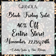 Granola. Black Friday Sale!