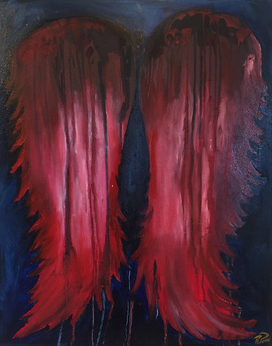 Rebecca Pons, BECCA PONS STUDIO, BECCA PONS, Oil Painting, fine art, BRING YOUR FEARS, Wings and Aura Collection