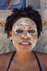 Portraits of Mozambique 16 - Pinina wearing Mussiro, Ilha de Mocambique