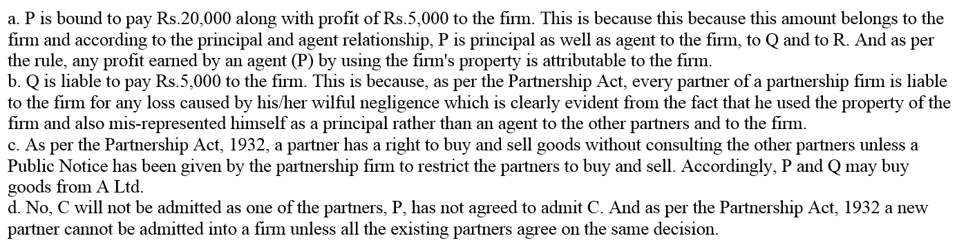 TS Grewal Accountancy Class 12 Solutions Chapter 1 Accounting for Partnership Firms - Fundamentals Q2