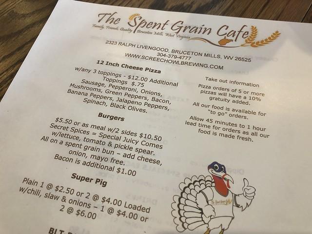 Screech owl & spent grain
