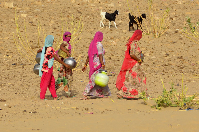 Women and water in the Thar desert 2 -Khuri Rajasthan India