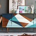 Home Decor DIY's : Dress up your dresser with a geo design like this.