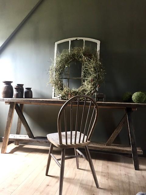 Sidetable slaapkamer oud stalraam