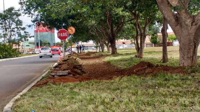 Novas calçadas são construídas no Guará