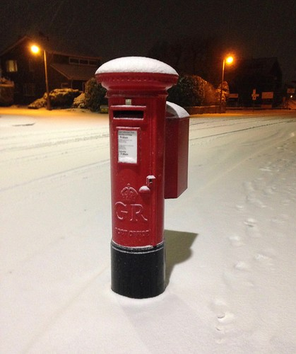 Postbox in snow