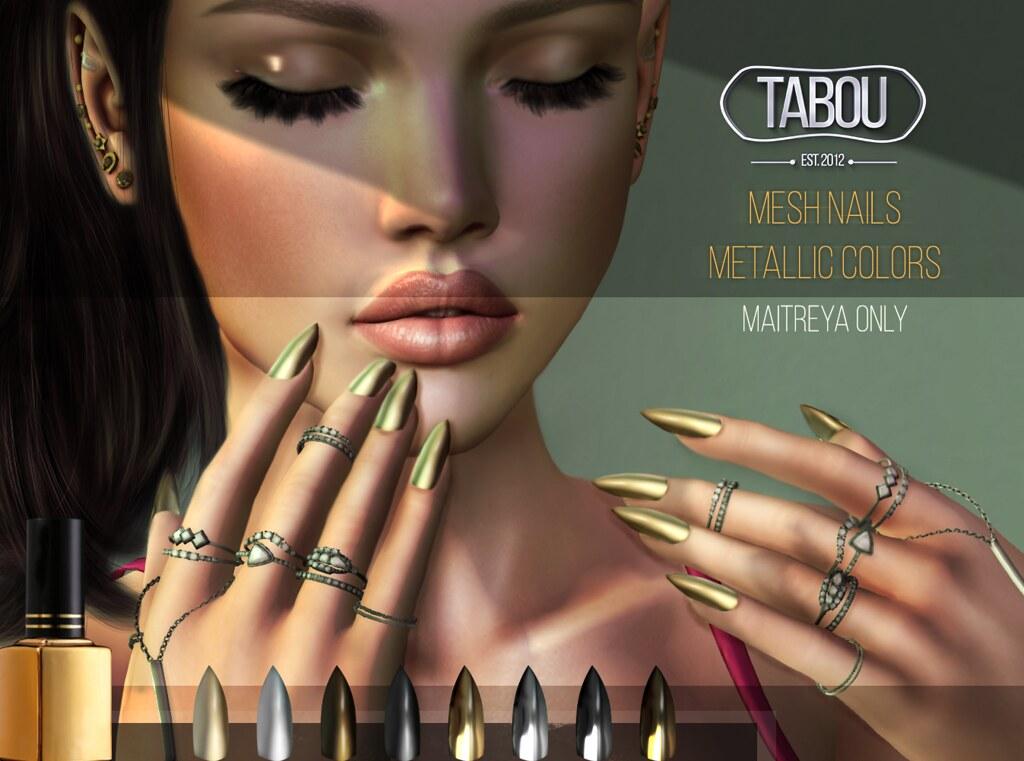 Mesh Nails – Metallic colors