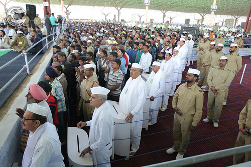 Saints in Namaskar Lines seeking blessings