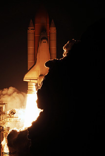 Space shuttle Endeavour lifts off from Launch Pad 39A at NASA's Kennedy Space Center in Florida, 8 Aug. 2007. Original from NASA. Digitally enhanced by rawpixel.